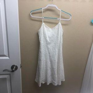 Soprano white lace spaghetti strap dress